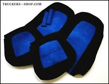 SCANIA 4 VELOUR SEAT COVERS IN BLUE/BLACK[TRUCK PARTS & ACCESSORIES]