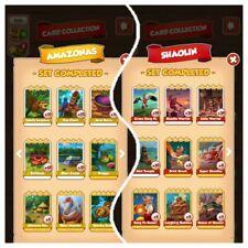 ? Coin Master Set Amazonas + Shaolin ? Karten  acaibeere rafflesia Mini tempel