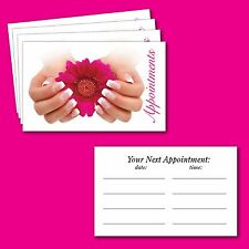 Nail Bar Salon Appointment cards Manicure Pedicure Beauty Salon pack of 100