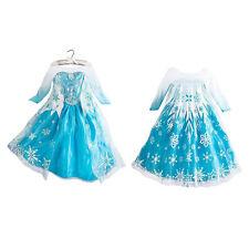 ENFANT FILLE LA REINE DES NEIGES ANNA Déguisement Fantaisie princesse robe