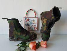 Dr Doc Martens 1460 8 eye vintage england green army camo boots UK 7 EU 41 US 9