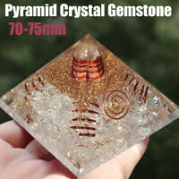 Extra Large 70-75mm Gemstone Pyramid Crystal Tower Tourmaline Orgonite Orgone