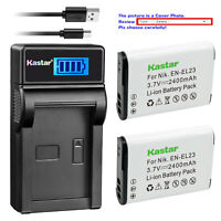 Kastar Battery LCD Charger for Nikon EN-EL23 MH-67P & Nikon Coolpix P600 Camera