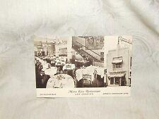 Advertising Postcard MONA LISA Restaurant Los Angeles LA CAlifornia Late 1930s