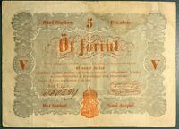 HUNGARY - PÉNZJEGY 1848 ISSUE 5 FORINT