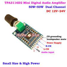 TPA3116D2 DC 12V-24V Digital Audio Power Amplifier Board 50W+50W Dual Channel