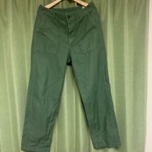 orSlow ARMY FATIGUE PANTS Baker Pants Cargo Pants Size 3 Khaki