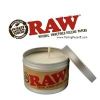 RAW Rolling Paper Sensory Enhanced LIMITED PRODUCTION CANDLE terpene & hemp oil