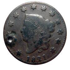 Large cent/penny 1821 holed bargain bin
