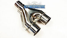 "Universal Exhaust Y Piece Divider 3"" 76mm Stainless Steel Dual System Section"