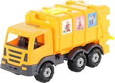Müllauto Spielzeug Müllwagen Fahrzeug LKW 43cm + Mülleimer runderneuerten Rädern
