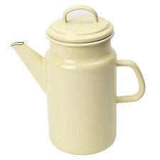 Dexam Vintage Home 2 Litre Coffee Pot with Enamel Finish, Buttermilk Cream