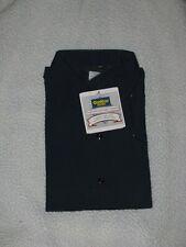 Vintage Men's OshKosh B'Gosh Blue Work Shirt Best Prest Xl Regular Short Sleeve
