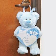 Boy Birth Announcement Bear Door Hanger : Baby Birth Announcement