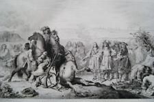 SIEGE DE TOURNAI LOUIS XIV BELGIQUE VAN DER MEULEN GRAVURE 1838 VERSAILLES R2119