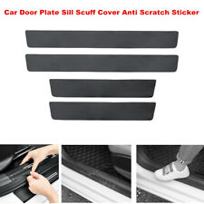 4pcs Carbon Fiber Car Door Plate Sill Scuff Cover Anti Scratch Sticker for Audi