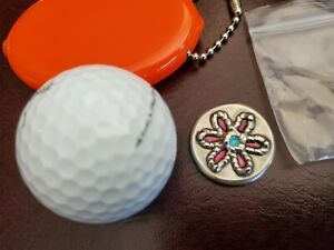 Hand Stamped Putter Ball Marker Colorado flower