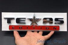 Silber & Rot Texas Edition 3D ABS Chrom Emblem Logo Chevrolet Silverado GMC