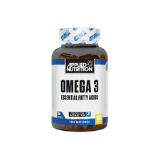 Applied Nutrition Omega 3 Fatty Acids 100 Veggie Caps Halal Approved Free P&P