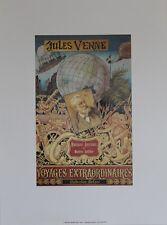 """""""JULES VERNE / VOYAGES EXTRAORDINAIRES (HETZEL)"""" Affiche originale entoilée"""
