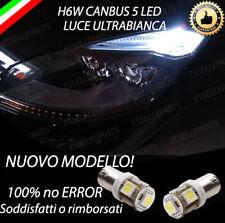 COPPIA LUCI POSIZIONE H6W 5 LED PER CITROEN C4 GRAND PICASSO BIANCO CANBUS