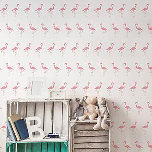 Flamingo Pattern Stencil - Tropical Bird Pattern Wall Stencil / Template