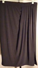 TRAVEL ELEMENTS NWT Black Faux Wrap Pull On Skirt Size M