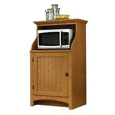 Traditional Microwave Cabinet Kitchen 1 Door Cupboard Wood Furniture Rack Stand