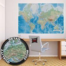Décorations murales et stickers carte du monde pour la maison