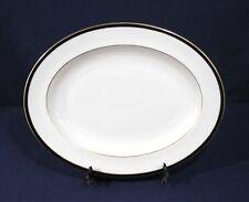 "Minton Fine Bone China SATURN Black Royal Doulton Oval Serving Platter 13-1/2"""