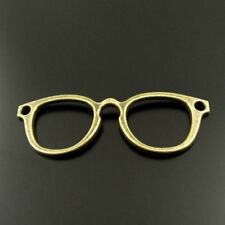 2 Eyeglass Connector Charms Antique Bronze Tone Double Sided - BC627