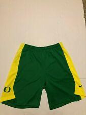 Oregon DUCKS Basketball  Nike PRACTICE SHORTS  Men's Large NWT Green/Yellow