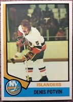1974-75 Topps #195 DENIS POTVIN *ROOKIE* *NM/MINT* Conditon ~Islanders Dynasty