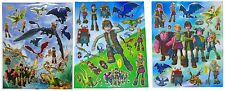 How to Train your Dragon large sticker sheets x 3  loot goodie party bag filler