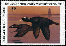 DELAWARE #28 2007 STATE DUCK SURF SCOTER / LIGHTHOUSE by George Lockwood