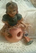 Vintage Doll Sewing Spool Bobbin Thread Holder Celluloid Italy 3""