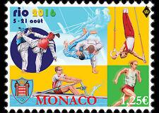 Rio Summer Olympics mnh stamp 2016 Monaco