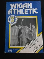 WIGAN ATHLETIC v BOURNEMOUTH   DIVISION FOUR  19th JANUARY 1980