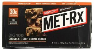1 MET-RX 9 Chocolate Chip Cookie Dough Meal Replacement Bar Protein BB 3-13-21