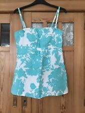 Oasis Beaded Linen Strappy Top Size 12
