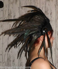 Federschmuck Indianer-Kopfschmuck schwarz echte Federn Fotoshooting
