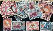 Wholesale LOT- Malaya 1957 General Issue  20 sets of 4 stamps used
