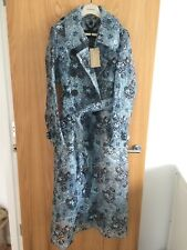 £1995 NEW BURBERRY PVC FLORAL EMBROIDERED TRENCH COAT UK8 US6 IT40 JACKET