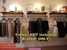 Rustic Industrial Pipe Boutique Shelving Clothing Rack Shop Brackets BS023D