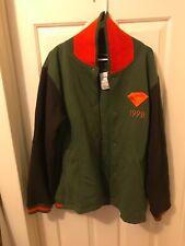 Diamond Supply Co. Skate Emblem 98 Fleece Varsity Green Mens Jacket Size XL