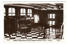 Nelson Dining Room - HMS Victory Real Photo Postcard c1950s