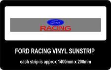 FORD RACING CAR SUN STRIP / WINDOW BANNER - FREE P&P
