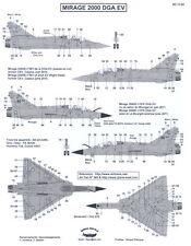 Berna Decals 1/72 DASSAULT MIRAGE 2000 DGA EV French Fighter