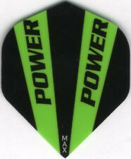 Black and Green POWER MAX Dart Flights: 150 Microns Thick: 3 per set