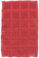 Handmade Flat Weave Hand Woven Red Dhurrie Jute Kilim 2'X3' ft Area Rug